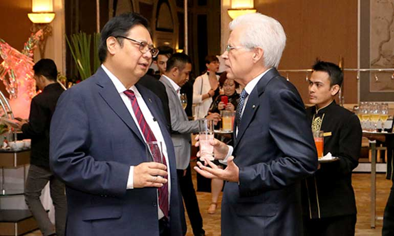 Minister of Industry of The Republic of Indonesia Attends Italian National Day Event 2