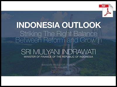 Indonesia Outlook 2018 Sri Mulyani Indrawati 1