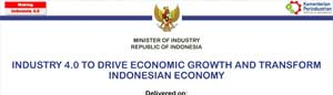 Industry 4.0 to Drive Economic Growth and Transform Indonesia Economy Ministry of Industry Mr Airlangga Hartarto