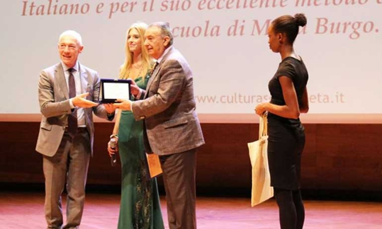 "The Director Fernando Burgo awarded with the ""Stella al Merito Sociale 2018"""