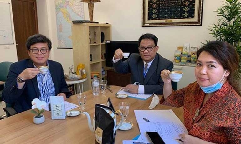 "Embassy of the Republic of Indonesia Supports the Export Upgrade of Gayo Coffee in Italy through Business Matching in ""International Gayo Arabica Coffee Week"""