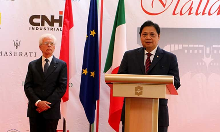 Minister of Industry of The Republic of Indonesia Attends Italian National Day Event