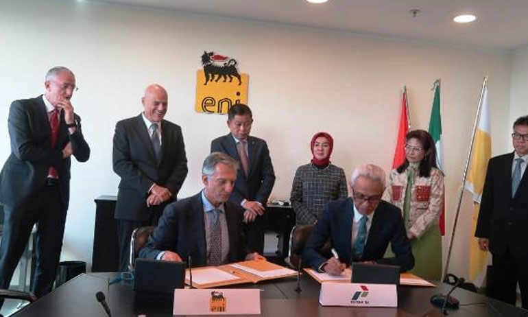 Indonesia's Pertamina, Eni sign agreement for green fuel refinery