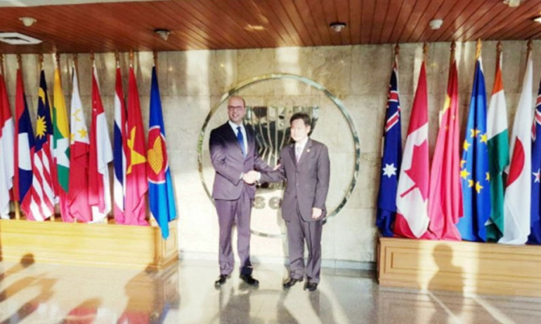 Minister Alfano on a diplomatic mission in Indonesia